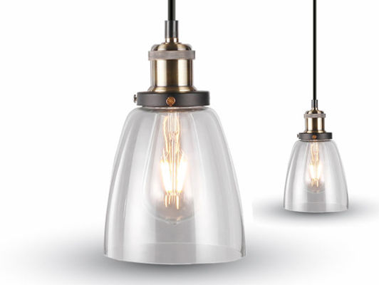 Lampa wisząca LOFT INDUSTRIAL Ø140 mm VT-7140 TRANSPARENT