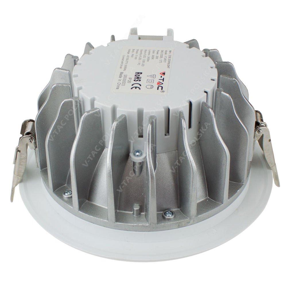 20w Led Odpowiednik: Okrągła Oprawa Sufitowa LED 20W Typu DOWNLIGHT Biała 2400