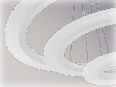 Aluminiowe pierścenie lamy LED SOFT RING