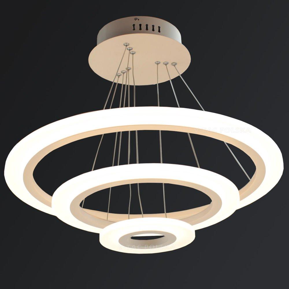 Lampa wisząca SOFT LED RING SLIM 60W podwójna VT 60 2