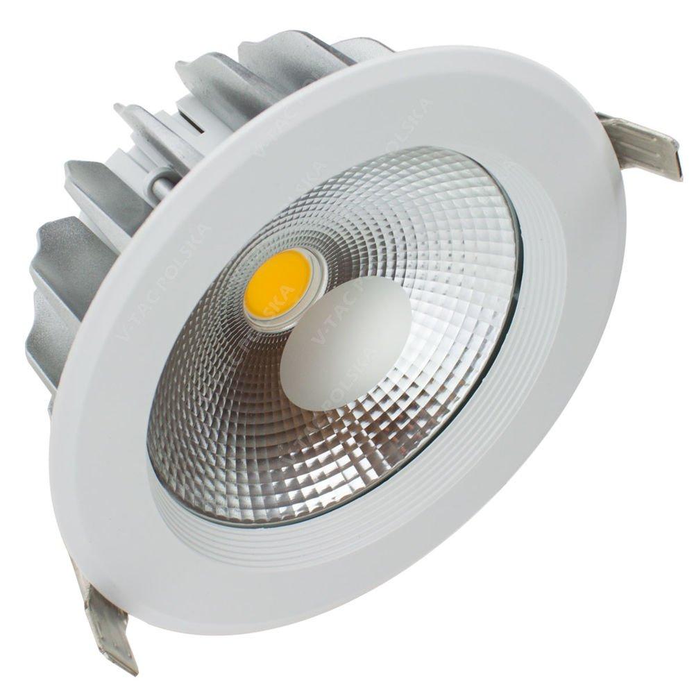 20w Led Odpowiednik: Okrągła Oprawa Sufitowa LED 20W DOWNLIGHT Biała 2400lm VT