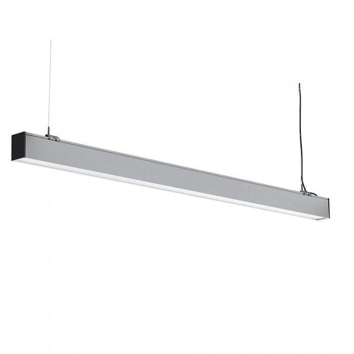 Ściemniana lampa liniowa LED SASMUNG 40W 4000lm 120cm VT 7 43 srebrna