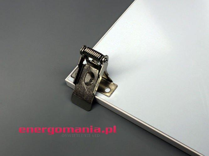 Sprężyny uchwyty montażowe paneli LED do sufitów podwieszanych GK