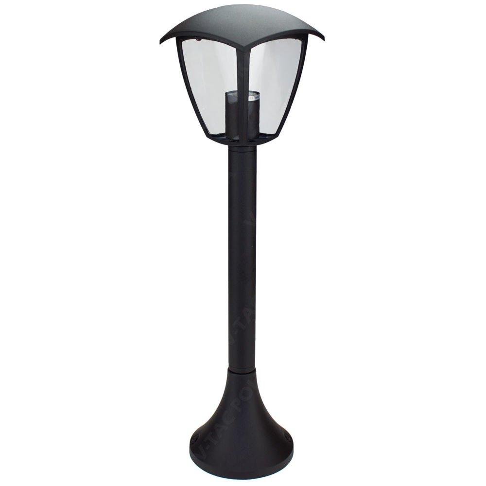 Stojąca Lampa Ogrodowa Pojedyncza Vt 736 Czarna Lampy Ogrodowe
