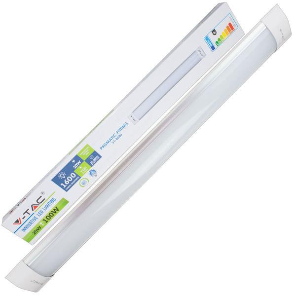20w Led Odpowiednik: Natynkowa Oprawa Liniowa LED 20W 1600lm 60cm VT-8020